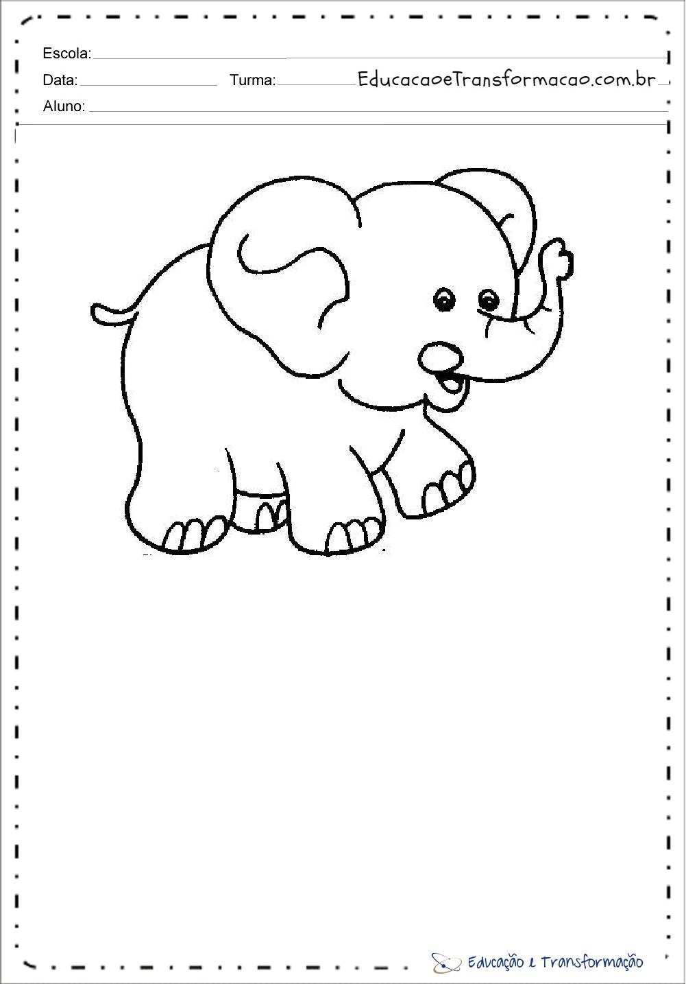 Elefante Desenhos De Animais Para Colorir E Imprimir Educacao
