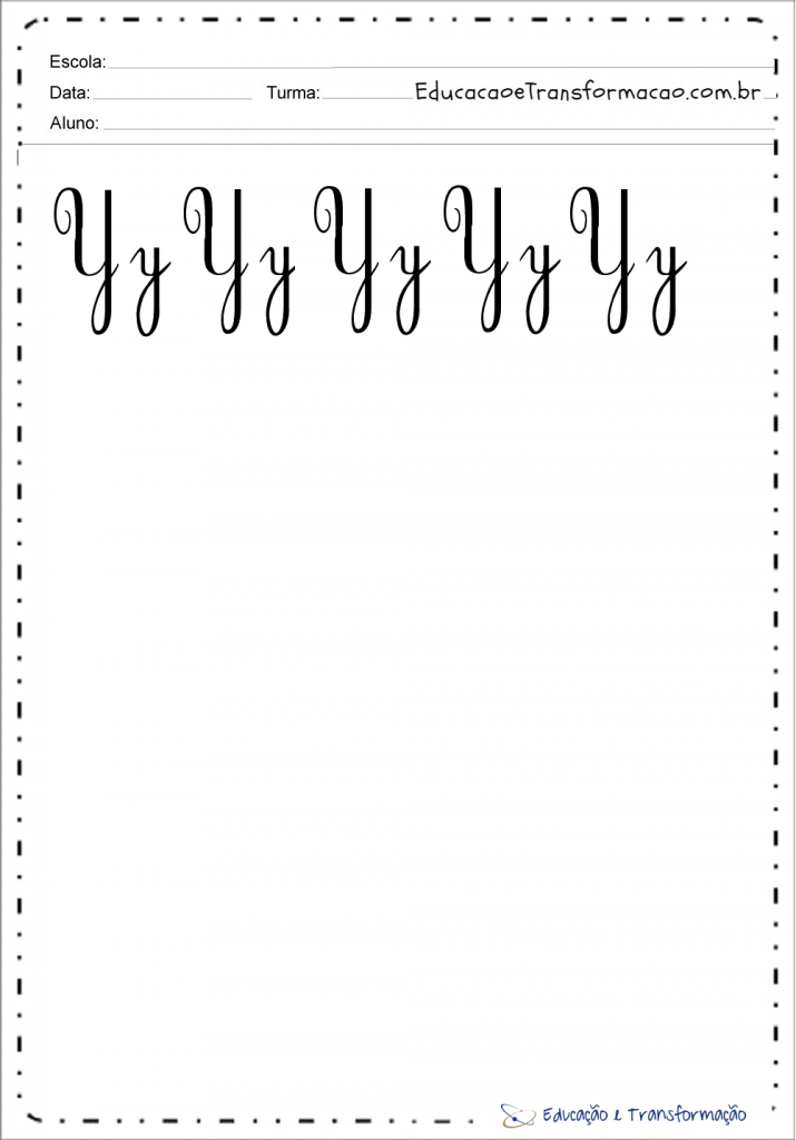 Molde da Letra cursiva y para imprimir