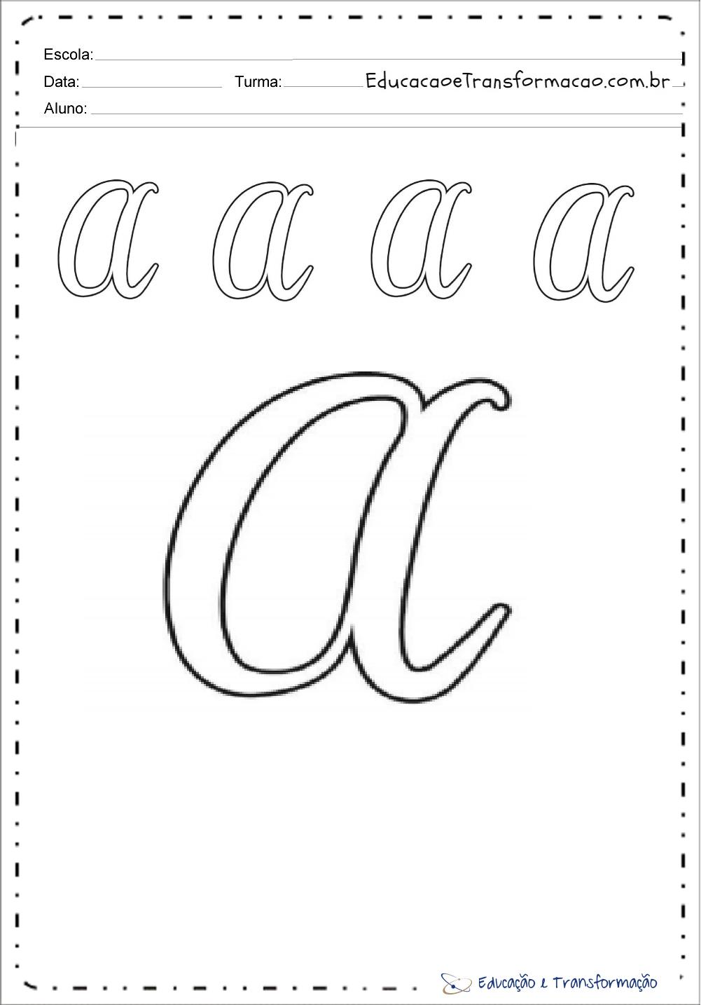 Moldes De Letras Cursivas Mayusculas Y Minusculas Para Imprimir