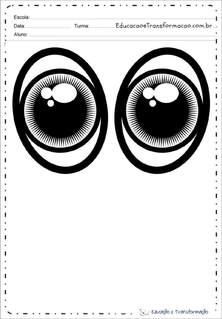 Olhos Para Imprimir Moldes De Olhinhos Em Eva Ou Feltro
