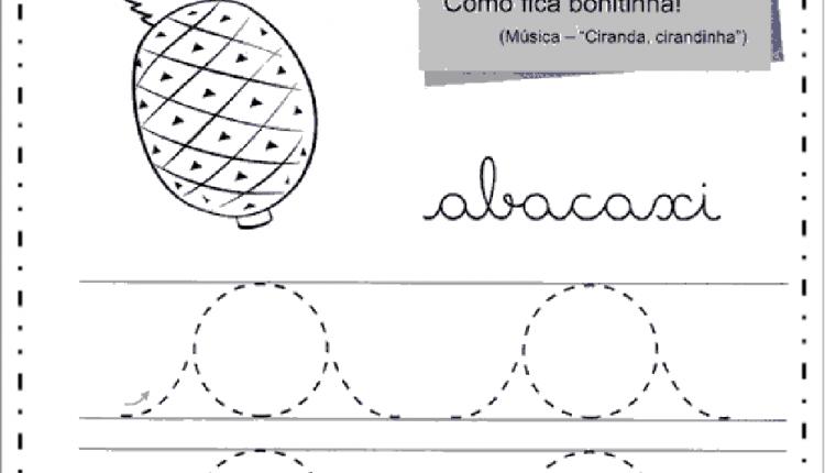 Caderno das vogais para trabalhar caligrafia