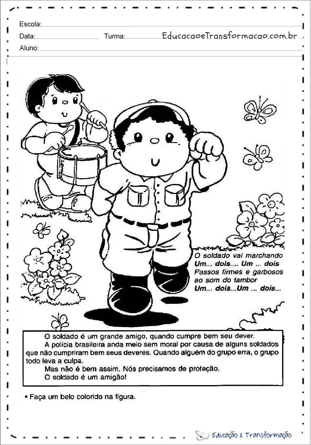Atividades Semana Da Patria Educacao Infantil Colorir Educacao