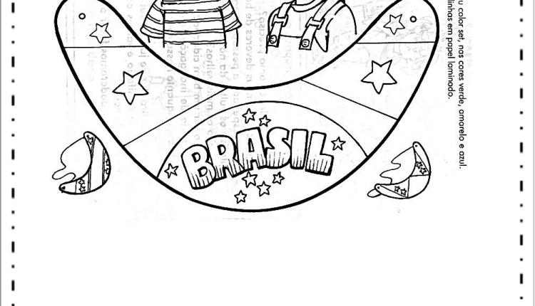 Atividades semana da pátria educação infantil – Viseira Brasil
