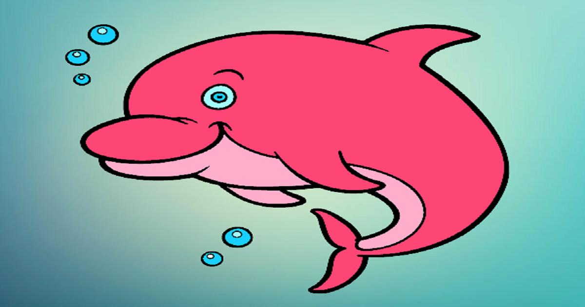 Boto cor de rosa para colorir