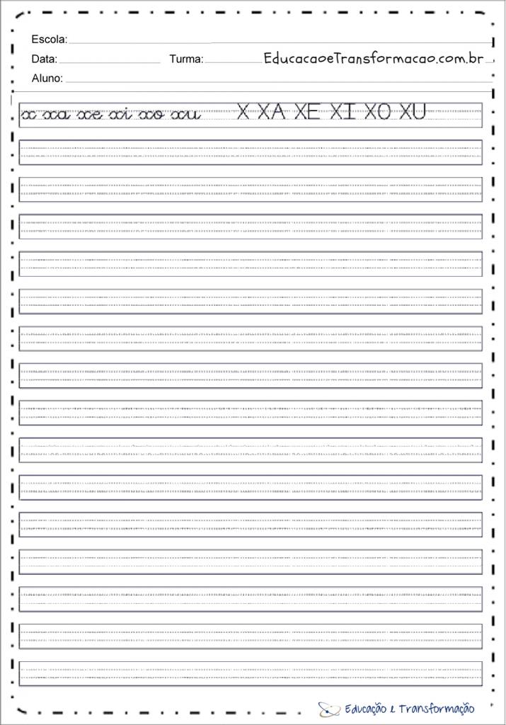Caderno De Caligrafia Atividades Educativas De Caligrafia Para