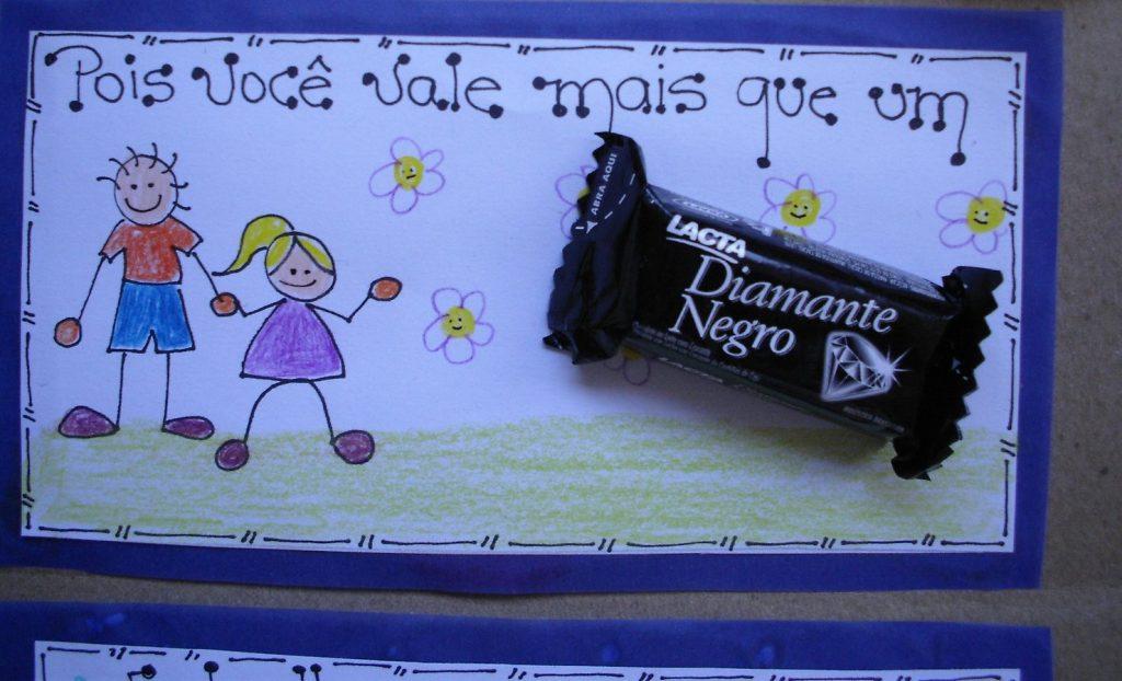 Lembrancinha para o dia dos pais usando chocolate