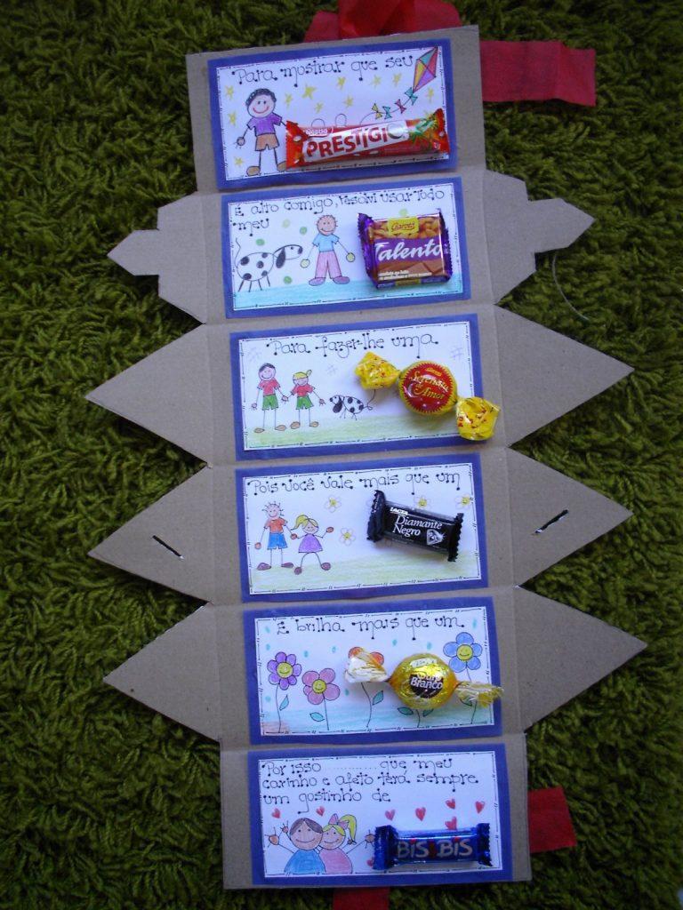 Cartão - Lembrancinha para o dia dos pais usando chocolate