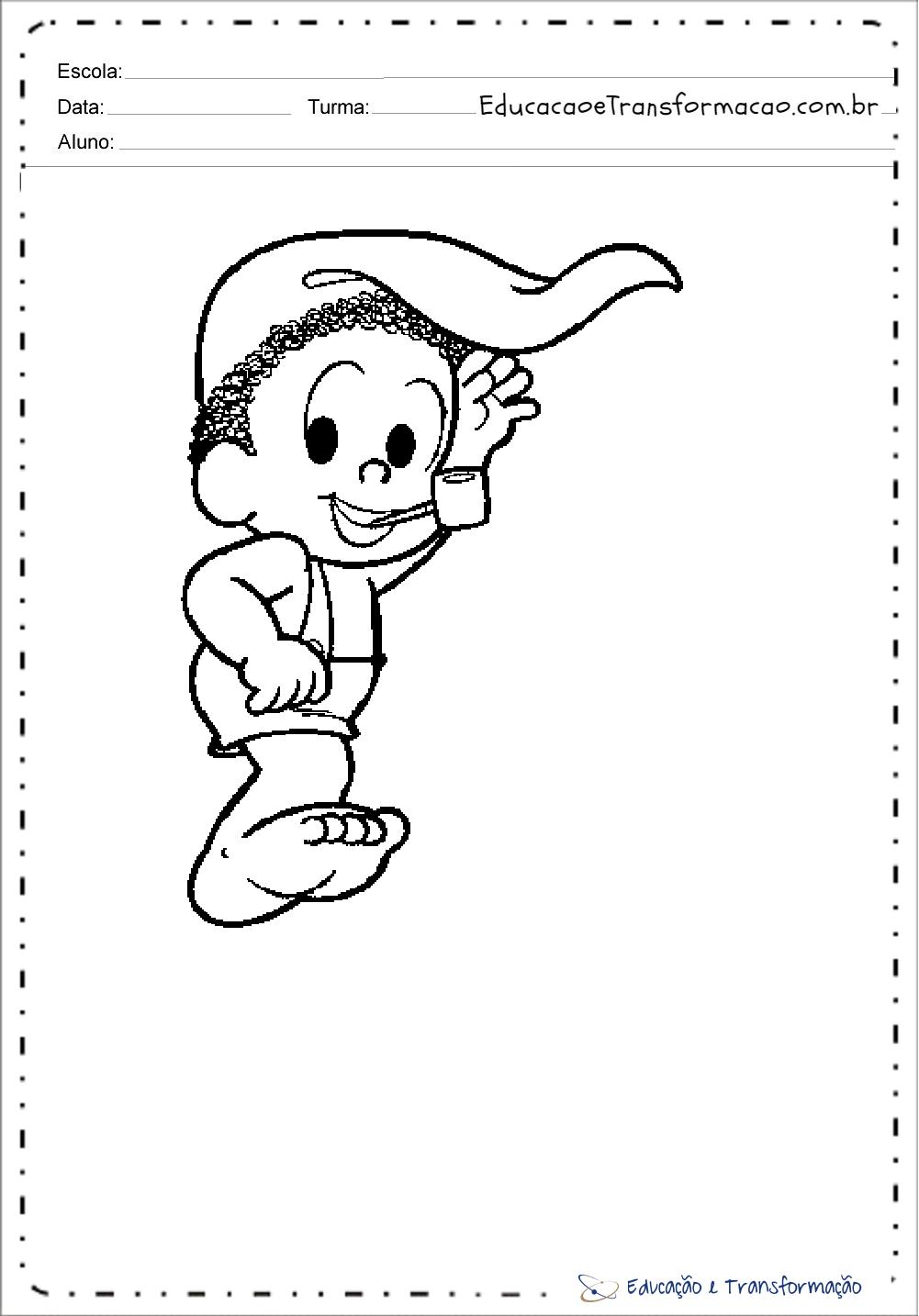 Desenhos Do Saci Perere Para Colorir E Imprimir Educacao E