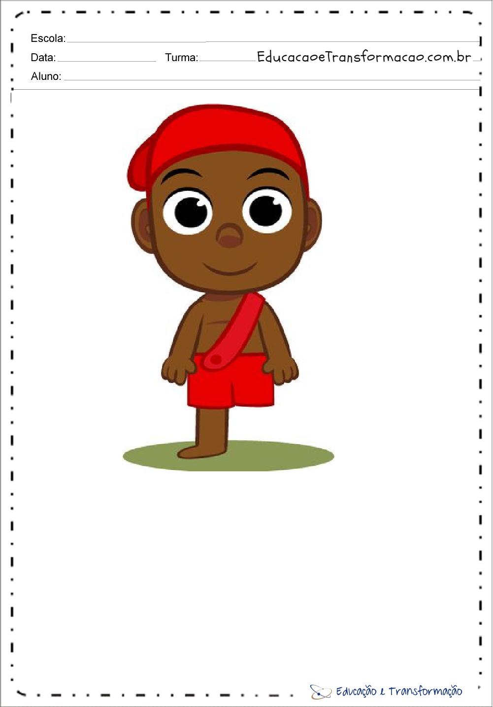 Desenhos Do Saci Perere Colorido Para Imprimir Educacao E