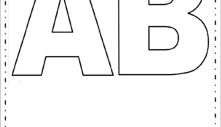 Moldes de Letras Grandes – Letras A e B