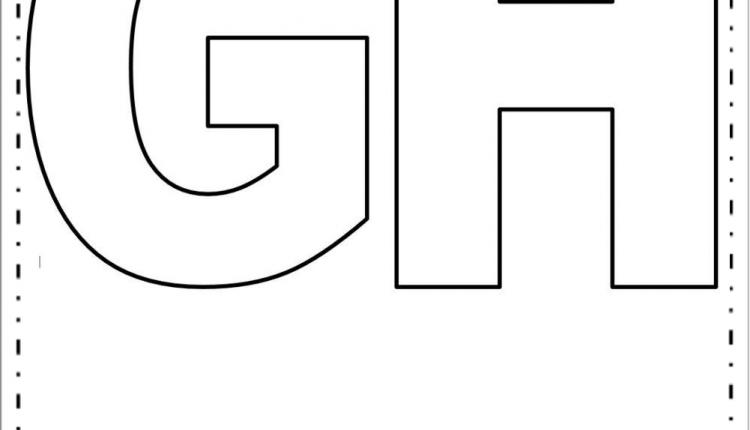 Moldes de Letras Grandes – Letras G e H