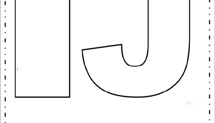 Moldes de Letras Grandes – Letras I e J