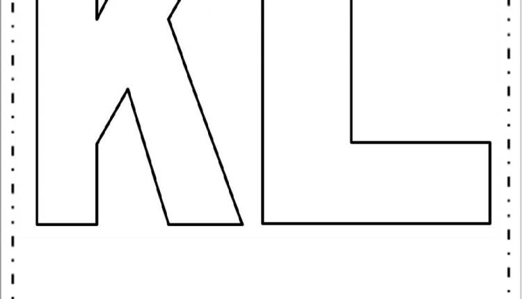 Moldes de Letras Grandes – Letras K e L