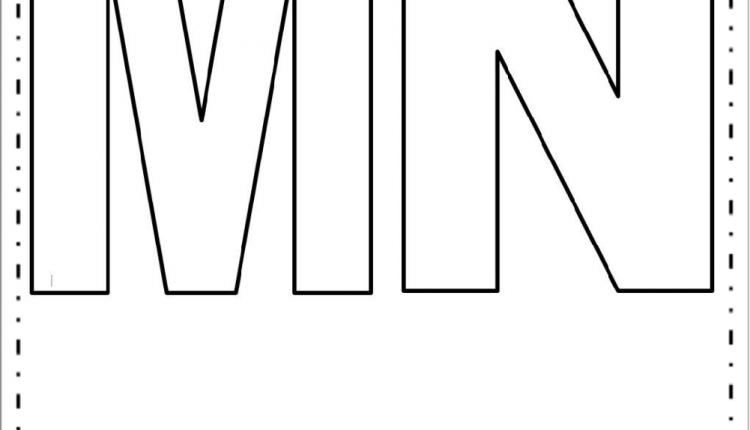 Moldes de Letras Grandes – Letras M e N