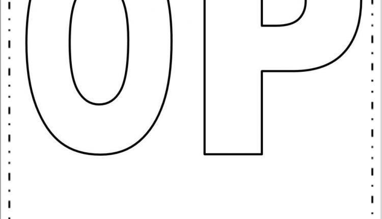 Moldes de Letras Grandes – Letras O e P
