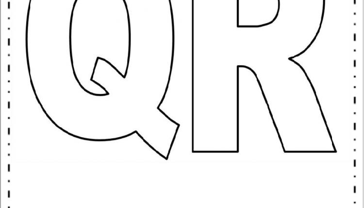 Moldes de Letras Grandes – Letras Q e R