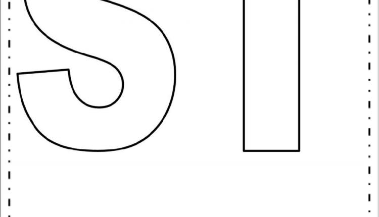 Moldes de Letras Grandes – Letras S e T