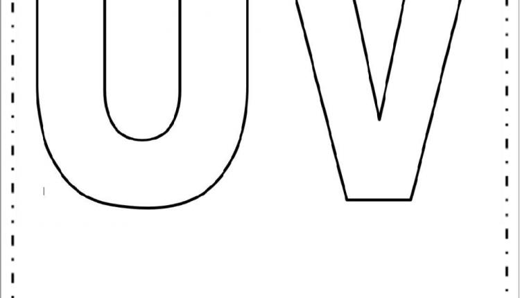 Moldes de Letras Grandes – Letras U e V