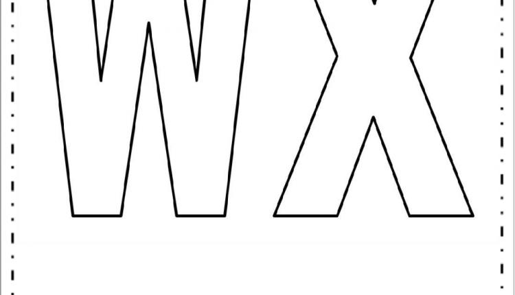 Moldes de Letras Grandes – Letras W e X