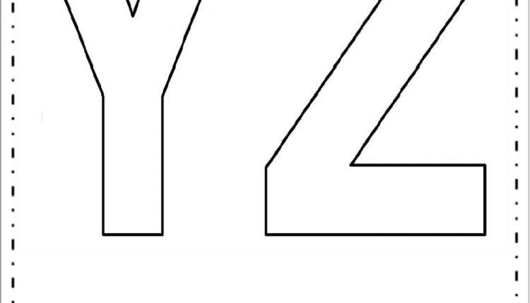 Moldes de Letras Grandes – Letras Y e Z