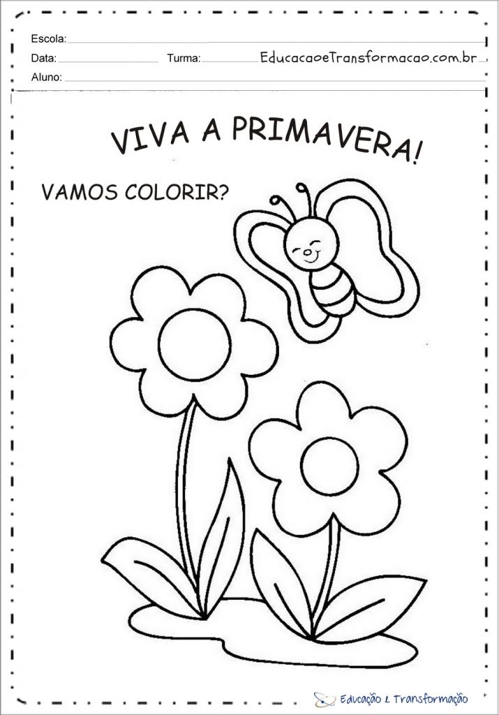 Primavera Atividades E Desenhos28 Atividades Educativas