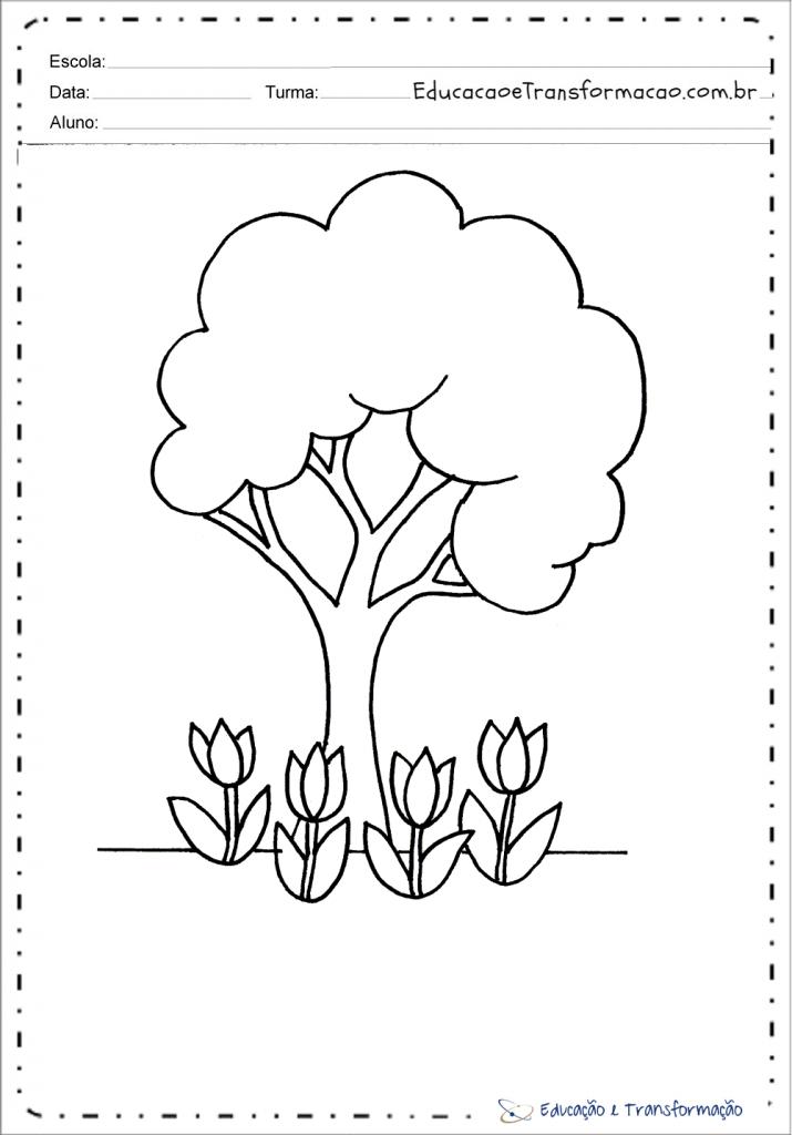 Desenhos Dia da Árvore para colorir e imprimir
