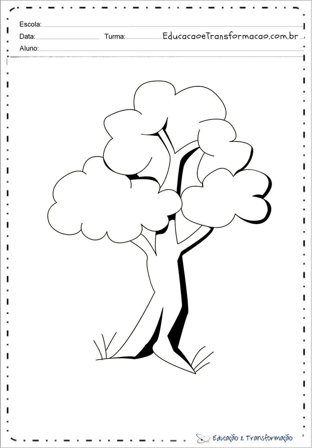 Desenhos Dia Da Arvore Para Colorir E Imprimir Educacao E