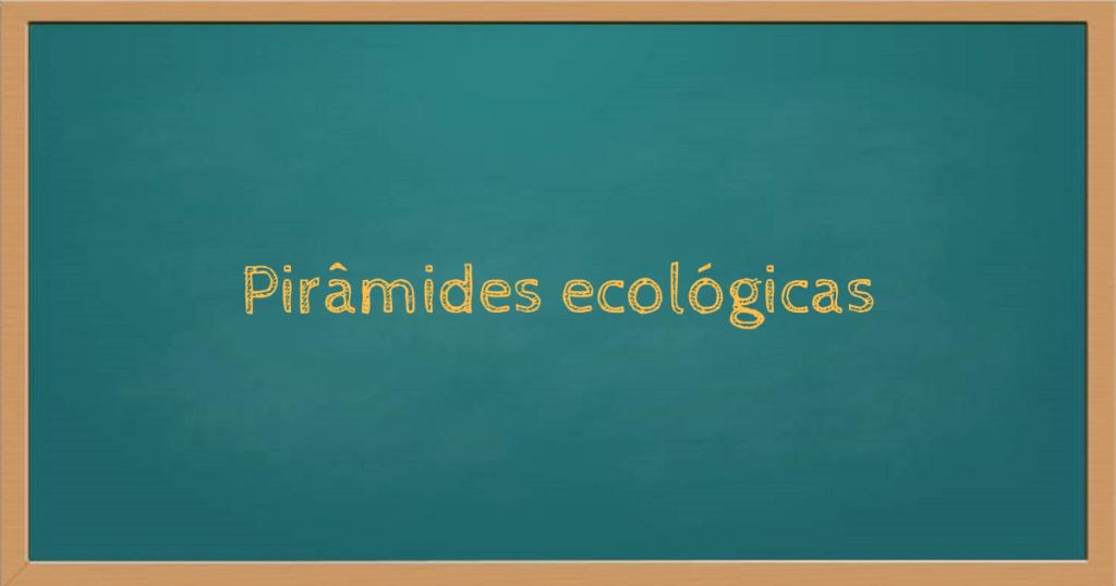Pirâmides ecológicas ou pirâmides tróficas