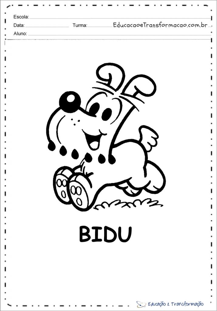 Desenhos para colorir de Cachorro - Para imprimir - Turma da Mônica
