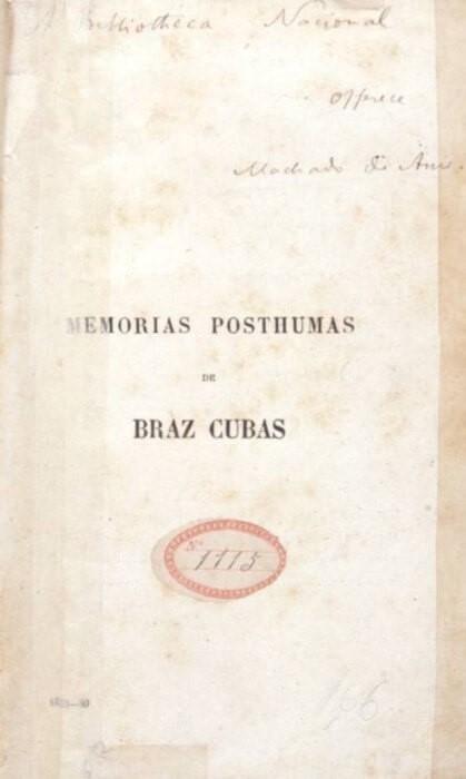 Memórias Póstumas de Brás Cubas - Capa do livro (1881)