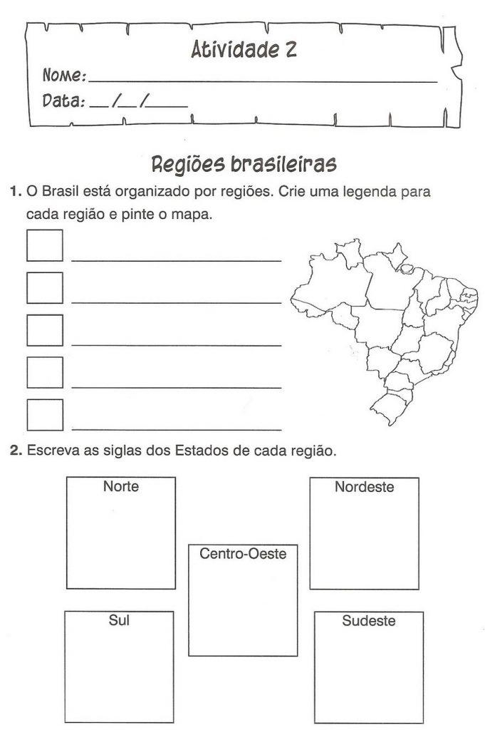 Atividades de Geografia 4º Ano - Imprimir